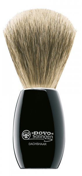 luxusní štětka na holení jezevec
