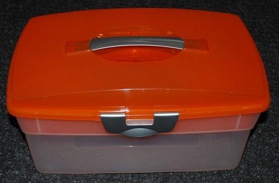 Plastový box s vložkou - větší