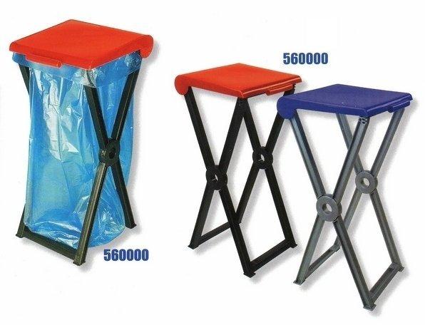 Stojan skládací plastový RIVAL  560 000 na odpadkové pytle 2
