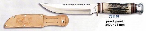 Otevřený nůž - pravé paroží
