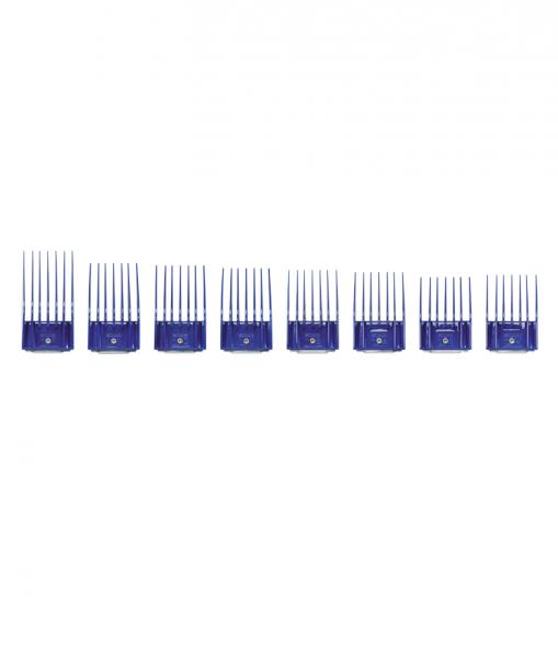 Sada plastových hřebenů Andis s kovovou sponou - set II (16-32 mm) 1