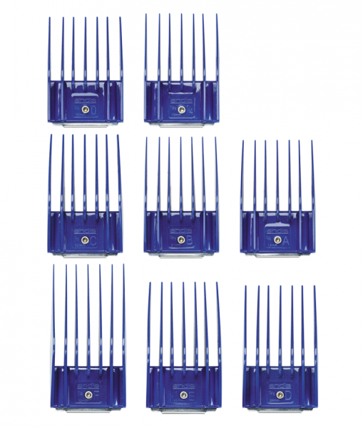 Sada plastových hřebenů Andis s kovovou sponou - set II (16-32 mm) 2