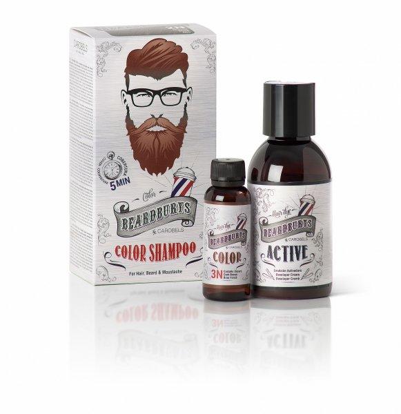Beardburys barvící šampon na vlasy a vousy-tmavě hnědý