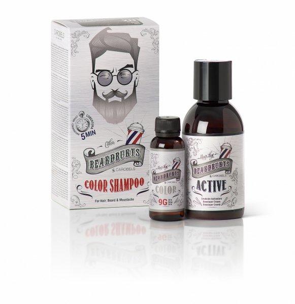 Beardburys barvící šampon na vlasy a vousy-šedivý
