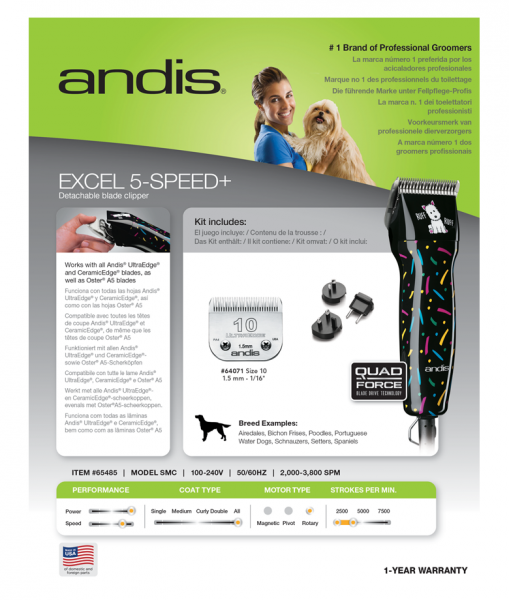 Andis Excel 5-Speed+ 4