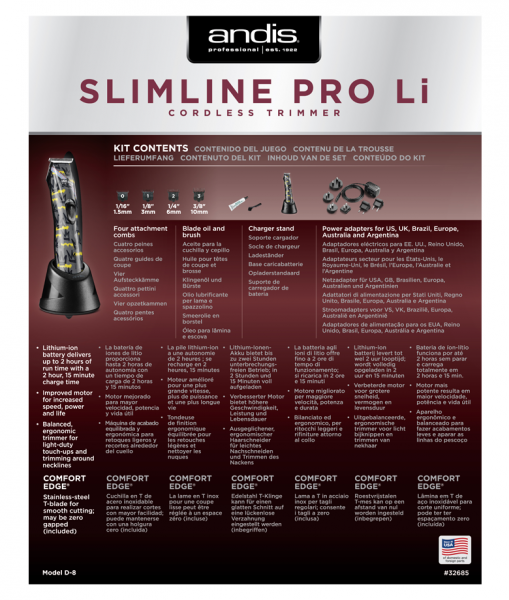 střihací strojek Andis Slimline Pro Li T-Blade 4