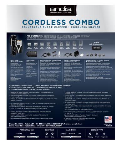 Andis Cordless Combo 5