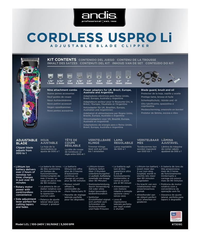 střihací strojek Andis Cordless USPro 73010 4